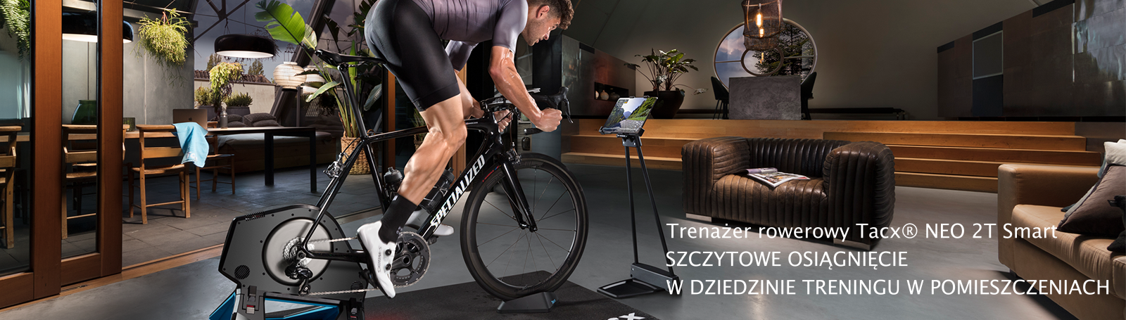Trenażer rowerowy Tacx® NEO 2T Smart